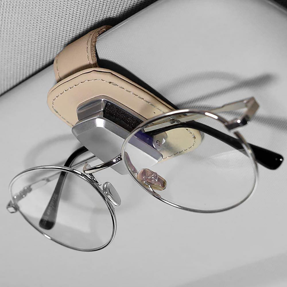 Glasses visor clip