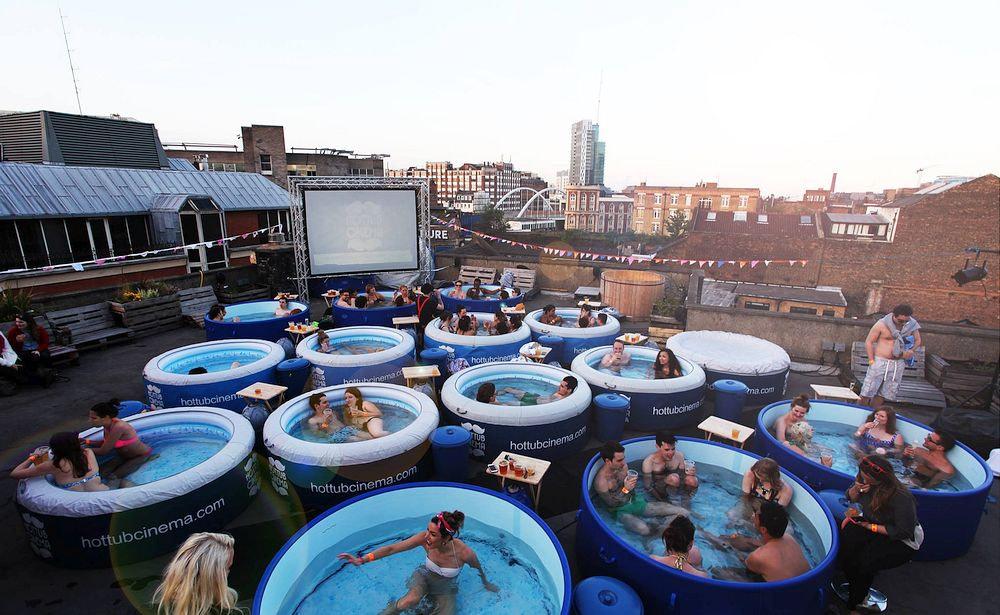 Rooftop Hot Tub Cinema