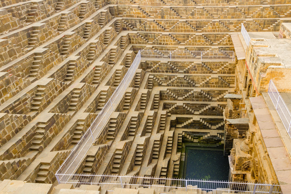 The deepest stepwell in India