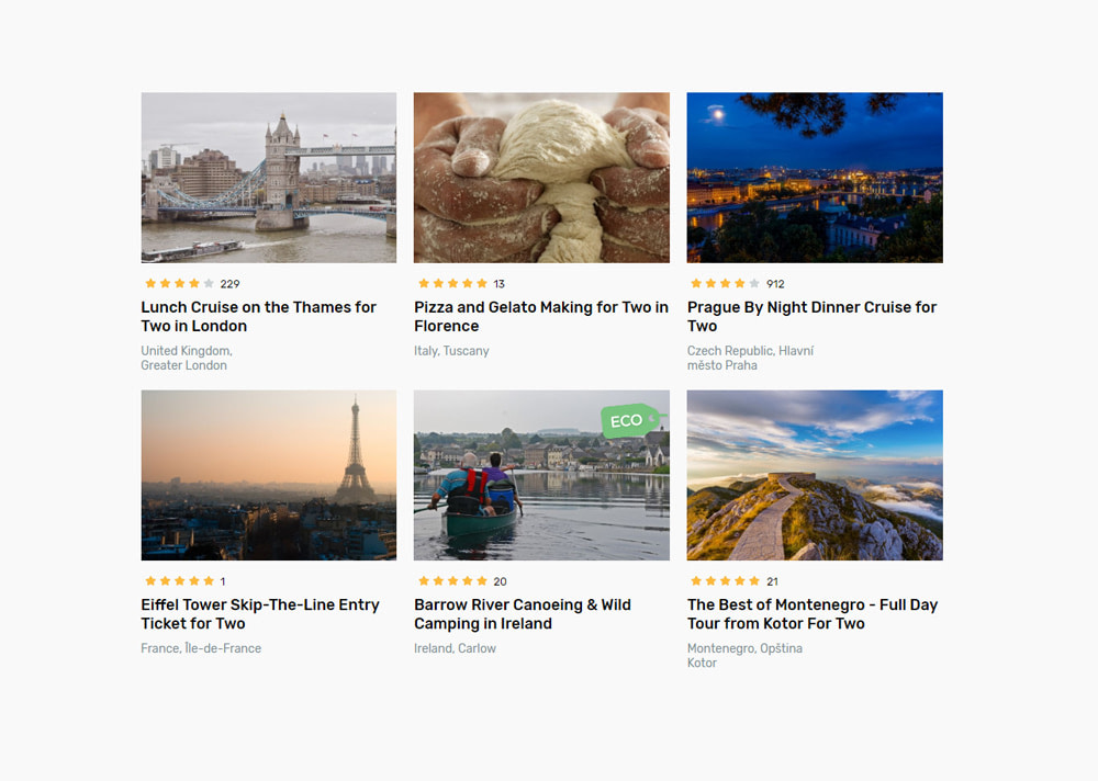 Handpicked travel experiences