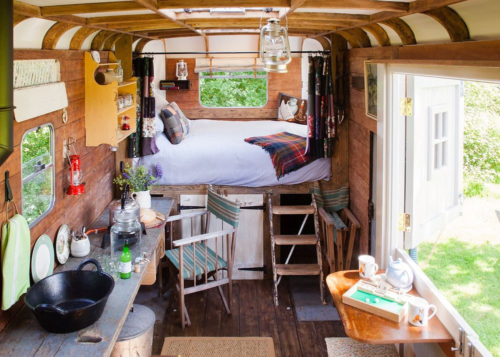 Glamping in a Horse Box