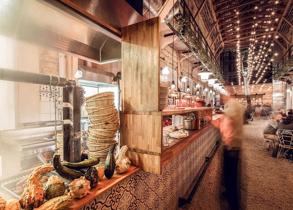 Mazel Tov's open kitchen