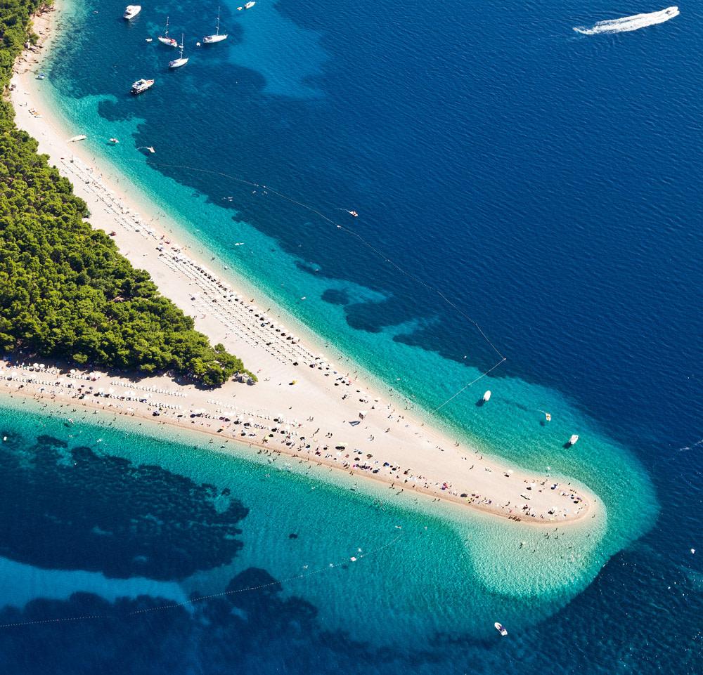 Zlatni Rat Beach on Brac Island, Croatia