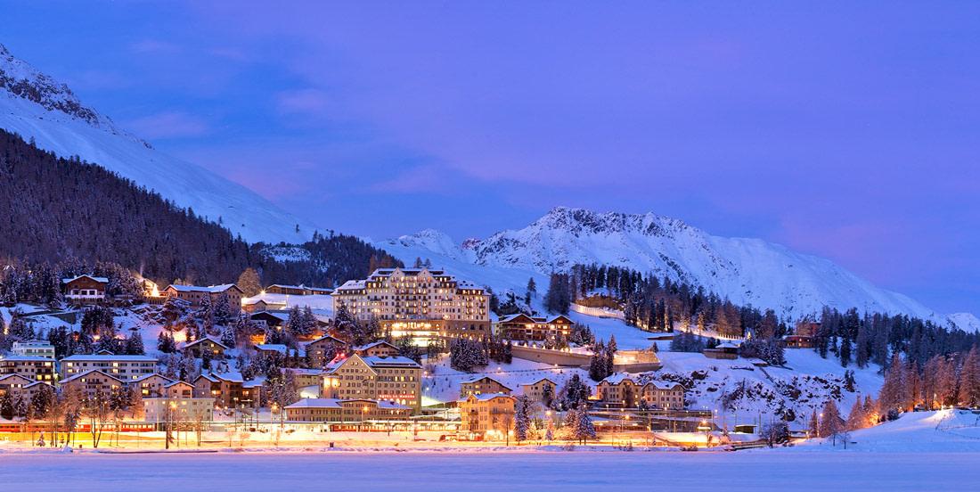 Winter night in St. Moritz