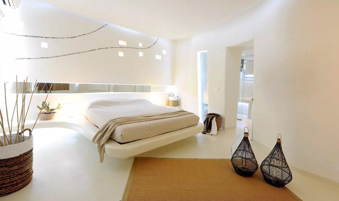 Bedroom with a futuristic design