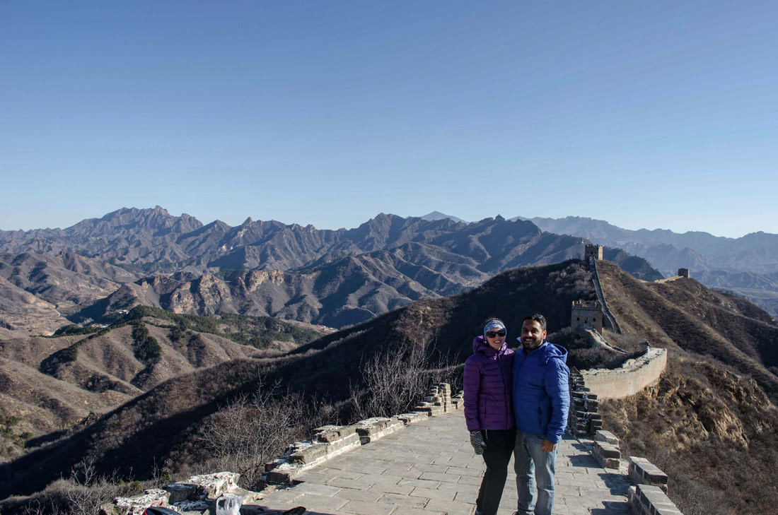 Travelers on the Great Wall