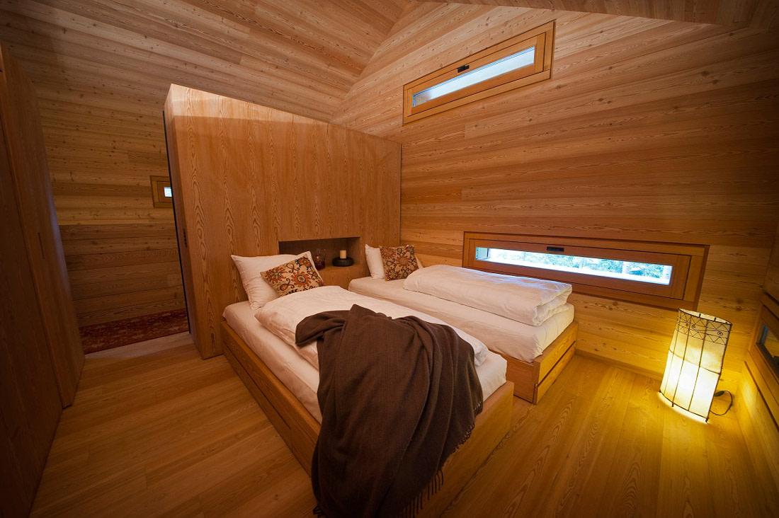 Wooden minimalist interiors