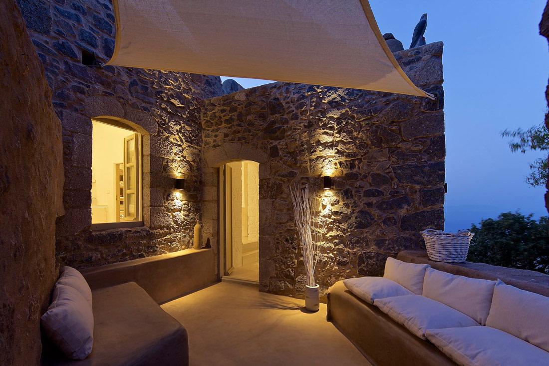 Stone retreat in Greece