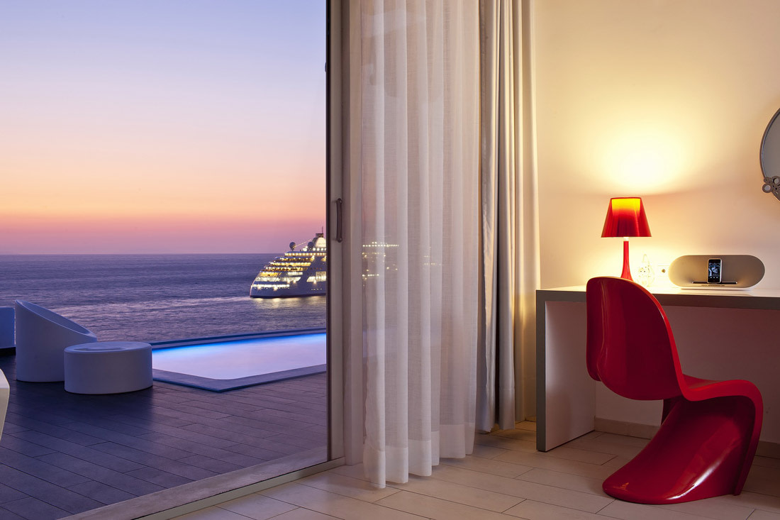 Room with private pool and sea views