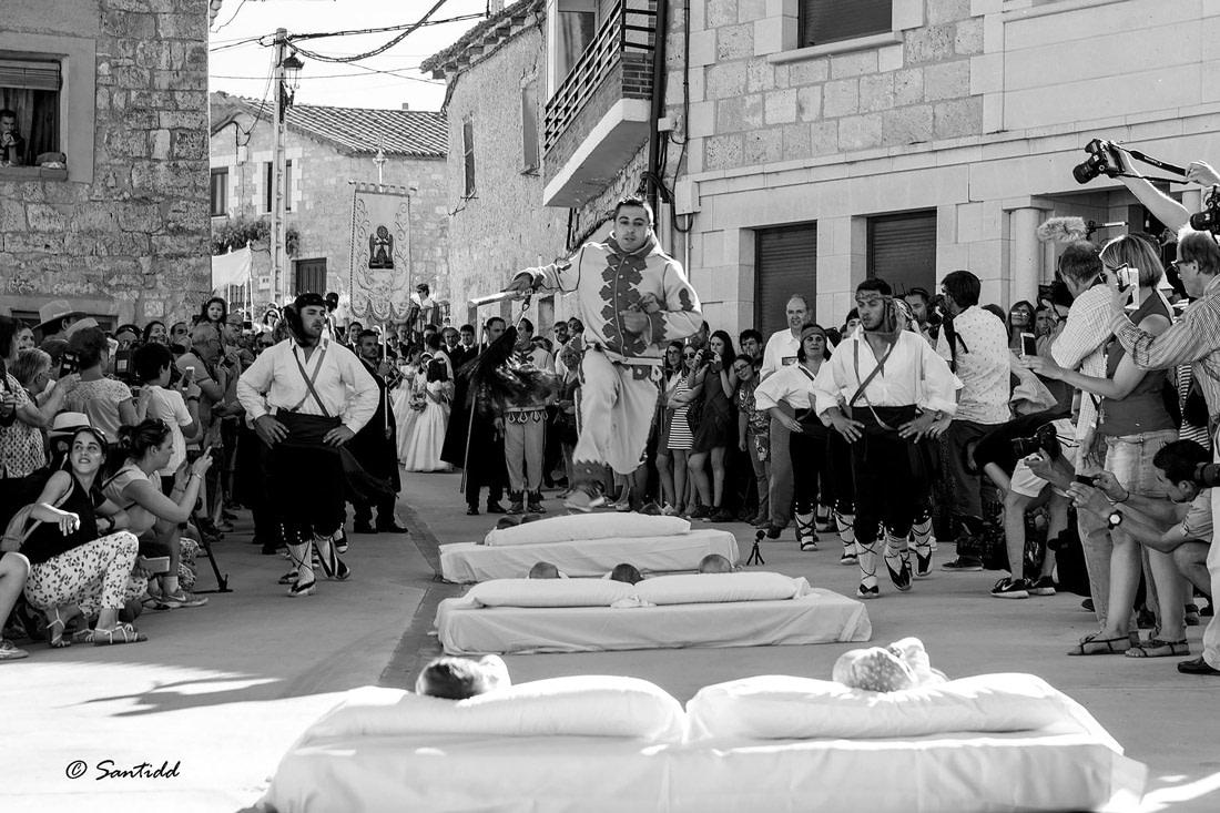 The Baby Jumping Festival in Castrillo de Murcia
