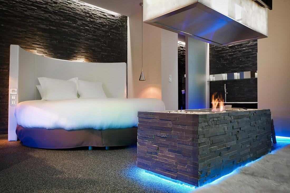 Well-designed hotel room