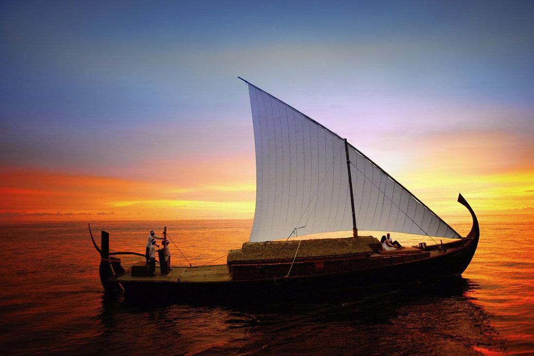 Wooden sailing dhoni