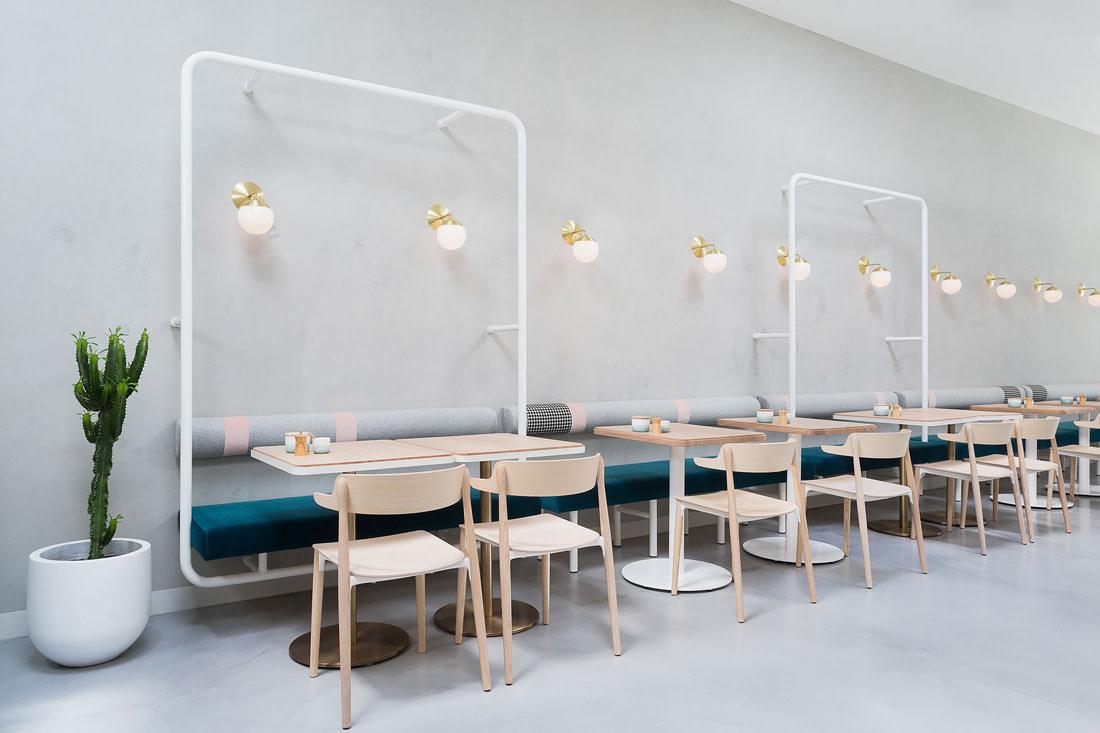 Well-designed cafe in Melbourne
