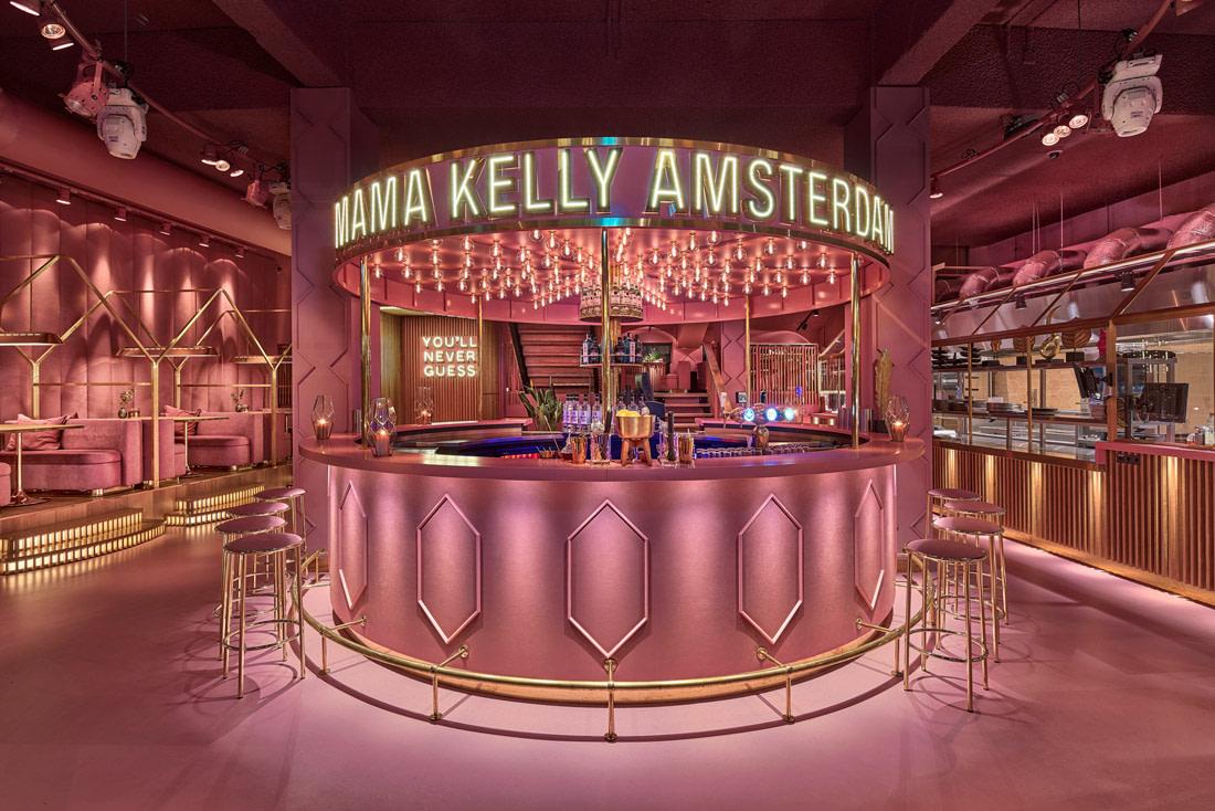 Pink restaurant in Amsterdam