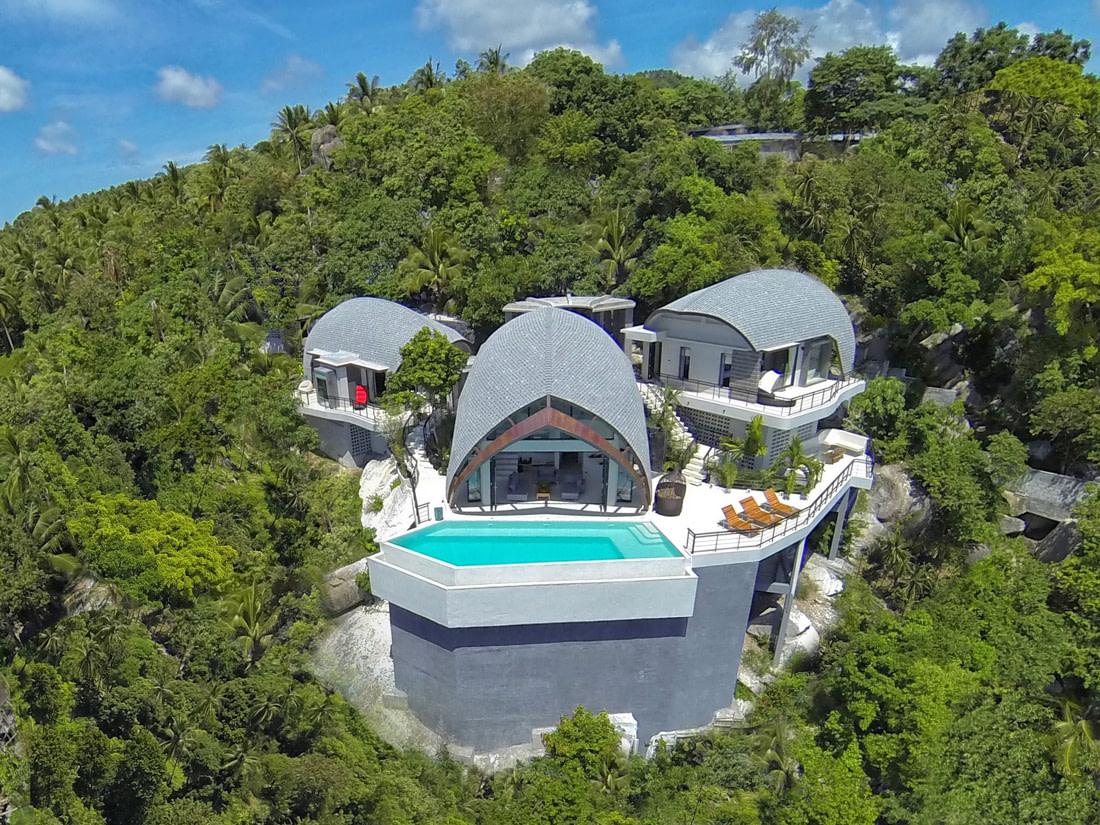 Hilltop villa for rent in Koh Samui