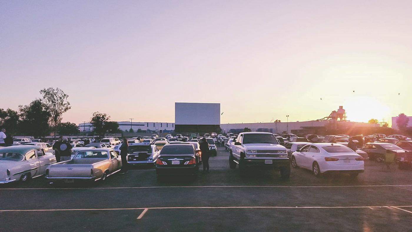 Drive-in cinema in LA