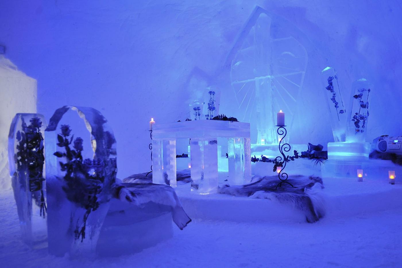 Ice hotel in Austria
