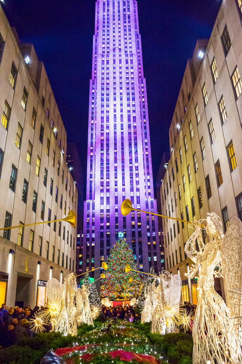 Rockefeller Center during Christmas