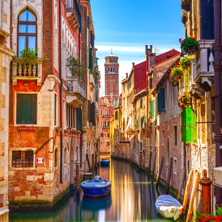 Romantic canal in Venice