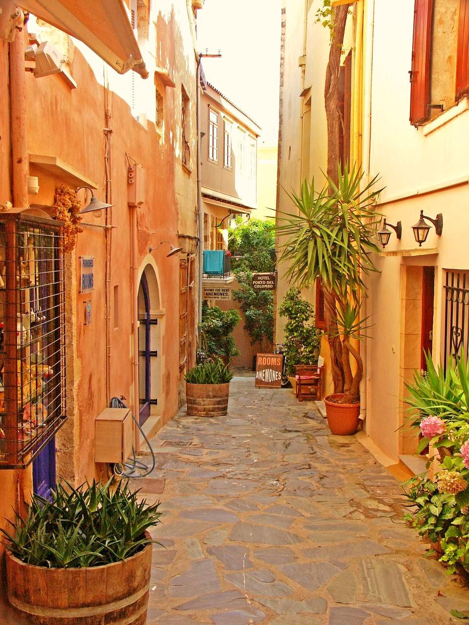 Old street in Crete
