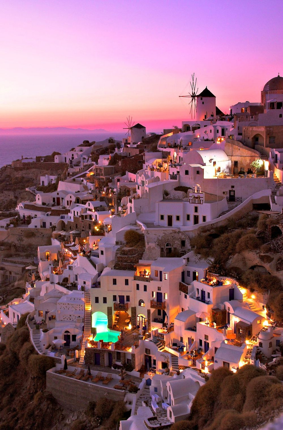 Cliffside houses in Oia